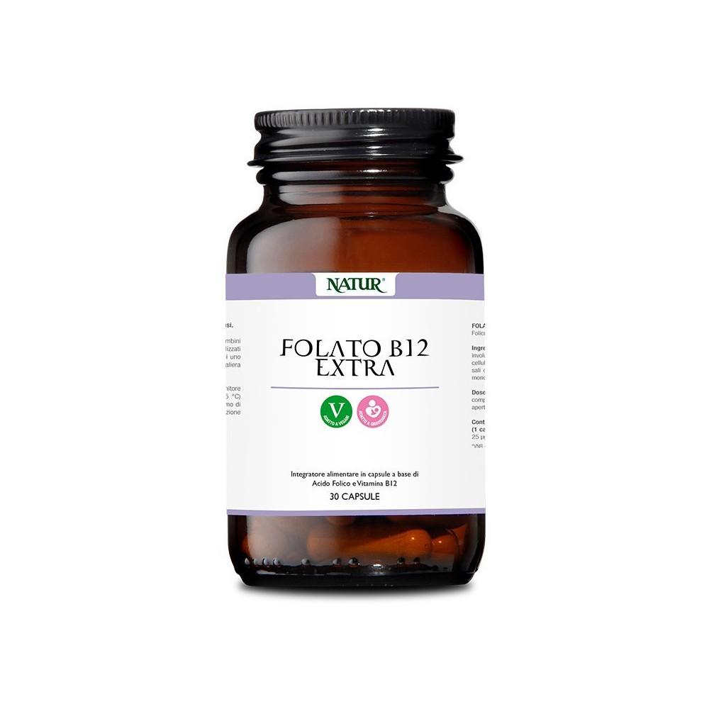 Natur Folato B 12 extra 30 capsule