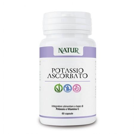 Natur Potassio Ascorbato 60 capsule vegetali Integratore alimentare