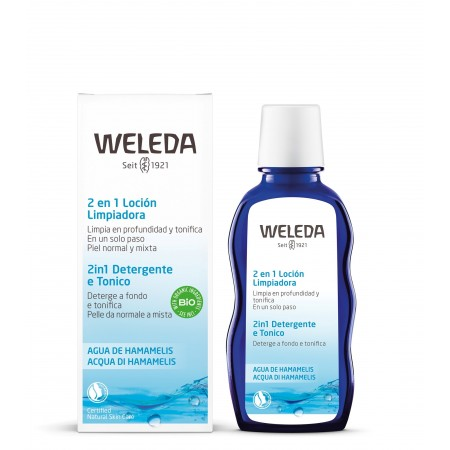 Latte e Tonico 2 in 1 Acqua di Hamamelis 100 ml Weleda