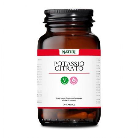 Natur Potassio Citrato 30 capsule vegetali Integratore alimentare