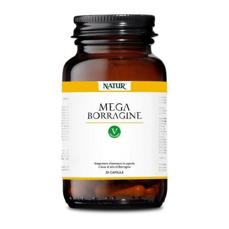 Natur Mega Borragine 30 capsule vegetali Integratore alimentare