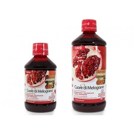 Cuore di Melograno Succo con Oxy3 500 ml Optima Naturals