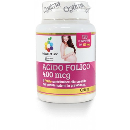 Acido Folico 400 mcg 120 compresse Optima Naturals