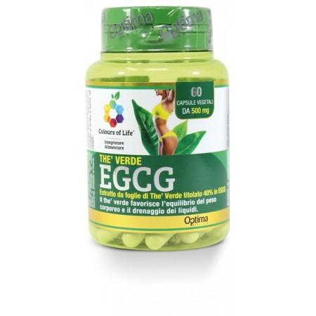 Thè Verde EGCG 60 capsule Optima Naturals