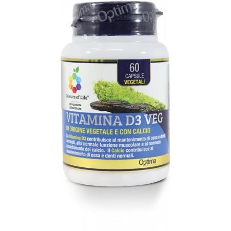 Vitamina D3 Veg 60 capsule Optima Naturals