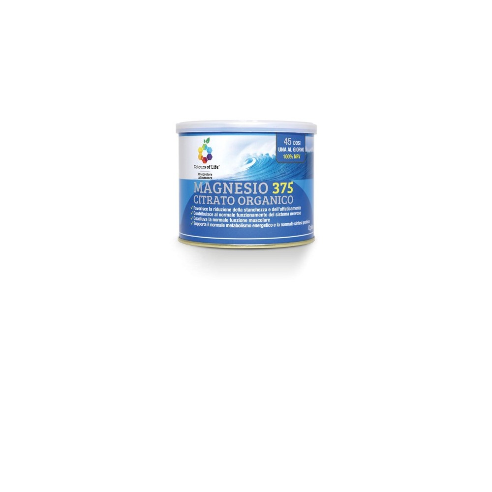 Magnesio 375 Citrato Organico Polvere