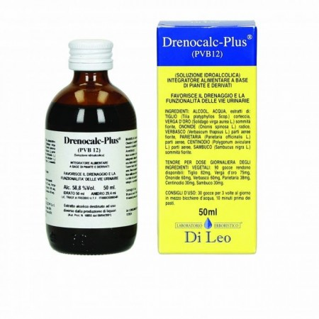 Di Leo Drenocalc Plus P.V.B 12 50 ml Integratore Alimentare