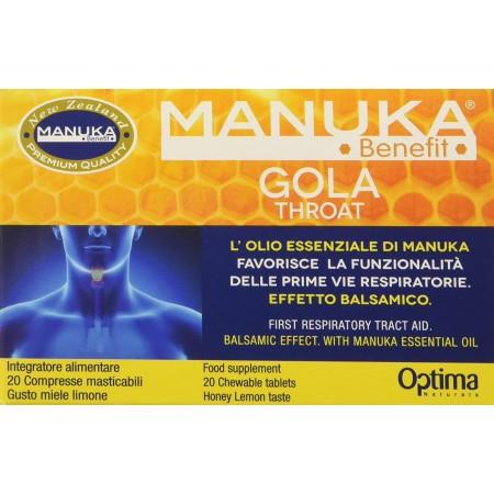 Manuka Benefit Gola Voce 20 compresse masticabili Optima Naturals