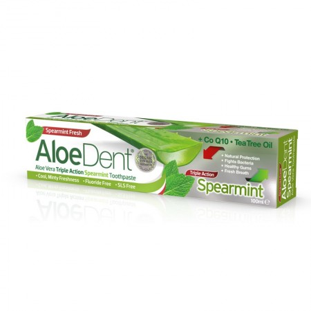 Aloedent Dentifricio Tripla Azione Spearmint 100 ml Optima Naturals