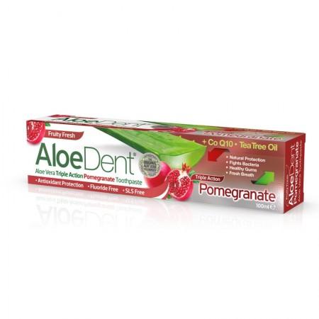 Aloedent Dentifricio Tripla Azione Melograno 100 ml Optima Naturals