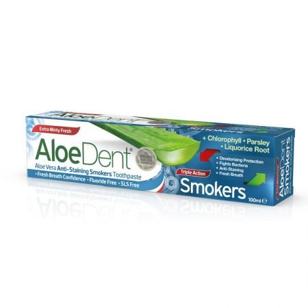 Aloedent Dentifricio Tripla Azione Smokers 100 ml Optima Naturals