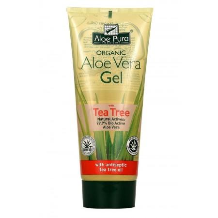 Aloe Vera Gel corpo con Tea Tree 200 ml Optima Naturals