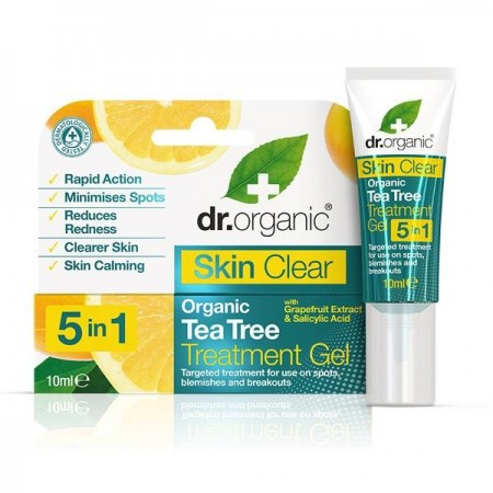 Gel Anti imperfezioni Skin Clear Treat Gel 10 ml Dr. Organic