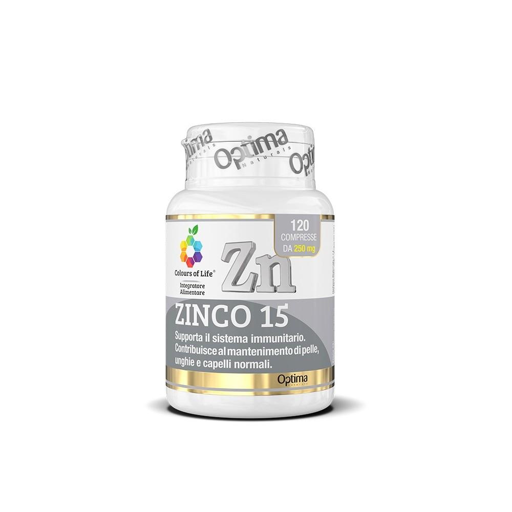 Optima Naturals Zinco 15 120 cpr