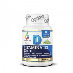 Optima Naturals Vitamina D3 2000 ui 60 cpr Integratore Alimentare