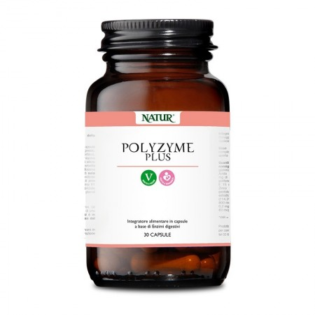 Natur Polyzyme Plus 30 capsule vegetali Integratore alimentare