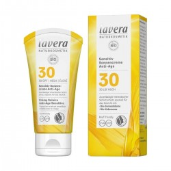 Crema solare anti-età Sensitive SPF30 50 ml Lavera