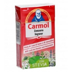Carmol pastiglie per la gola  Zenzero con stevia 45 gr (Confezione da 6 pz)