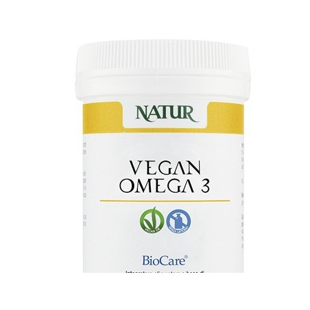Natur Vegan Omega 3 30 capsule vegetali Integratore alimentare