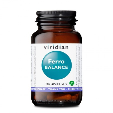 Viridian Ferro Balance 30 caps vegetali Integratore alimentare
