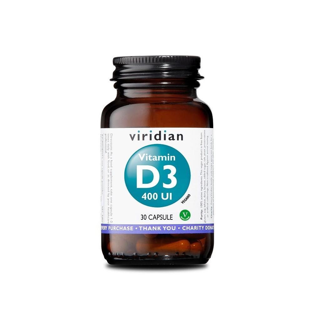 Viridian Vitamina D3 400 UI 30 capsule