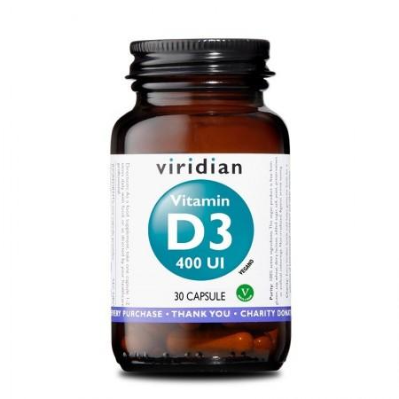 Viridian Vitamina D3 400 UI 30 capsule Integratore alimentare