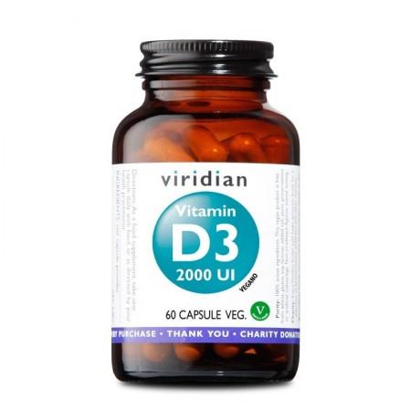 Viridian Vitamina D3 2000 UI 60 capsule Integratore alimentare