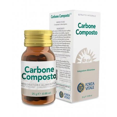 Forza Vitale Carbone Composto 25 g Integratore alimentare