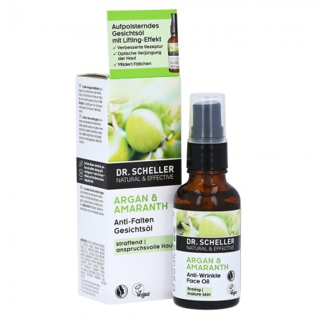 Olio viso antirughe Argan e Amaranto 30 ml Dr. Scheller